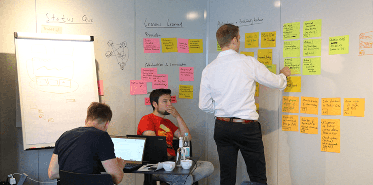 Design Sprint Workshop with Michael Engel and client team